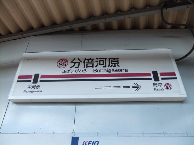 Photos: #KO25 分倍河原駅 駅名標【上り】