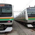 写真: E231系1000番台・E233系3000番台 2並び