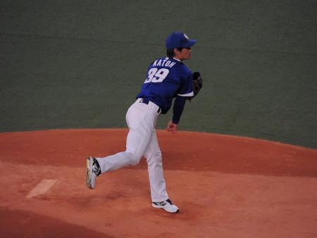加藤投手。