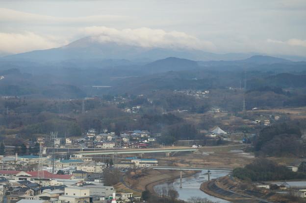 阿武隈川と鎌倉岳