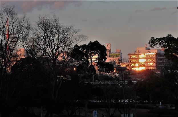 水戸で見る夕陽  3  2017:12:17