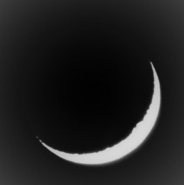 師走に見る月・・2 2017:12:21 月齢3.1