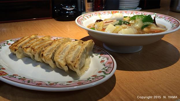 中華飯と餃子