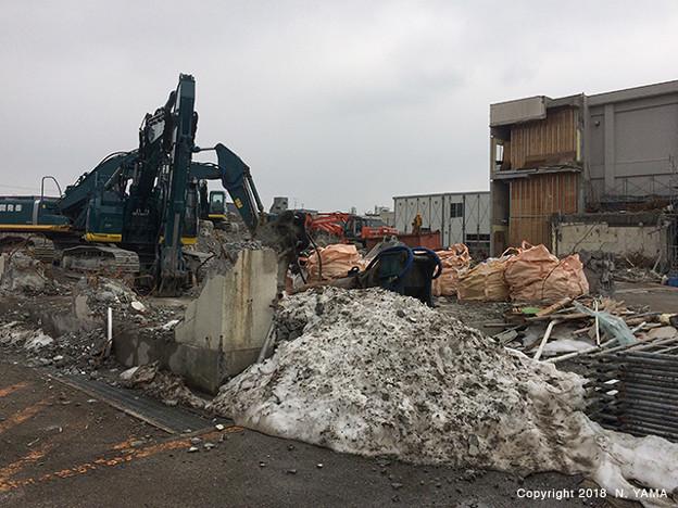 2018年1月21日、金沢市立森山町小学校 建替工事風景