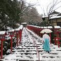 写真: 雪の貴船神社