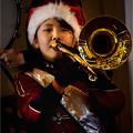 写真: サンタのトロンボーン