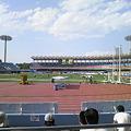 写真: 等々力陸上競技場にて女子4×100mの日本記録を目撃!福島さん速いわー。