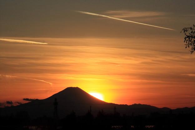 12月30日の富士夕景