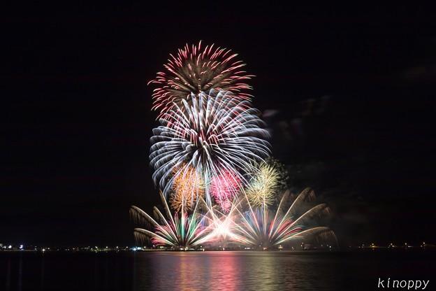 写真: 糸島市民まつり 花火 2