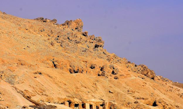 王家の谷付近の山