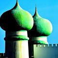 写真: 緑の塔