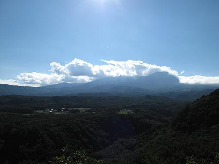今日も御嶽山は雲