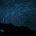写真: 北穂の夜