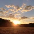 写真: 晩秋の夕暮れ時