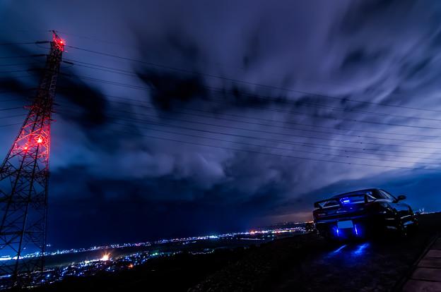 鉄塔と夜景とシルビア 01