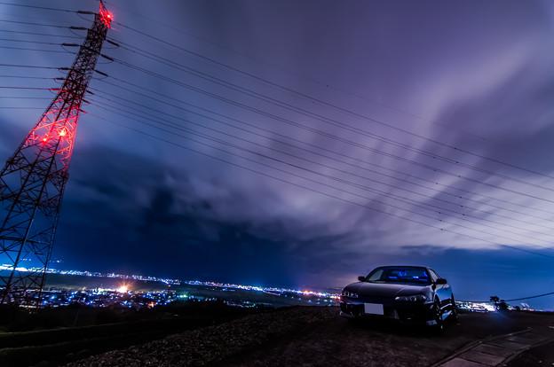 鉄塔と夜景とシルビア 02