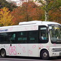 Photos: 「秋色」の中でも「春色」カラーで走る北区コミュニティバス『Kバス』