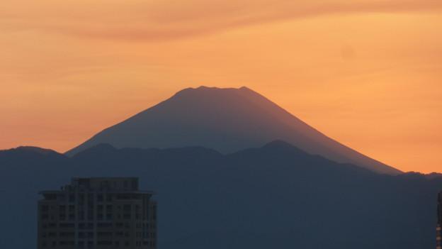 写真: 「グラデーションシルエット」な富士山