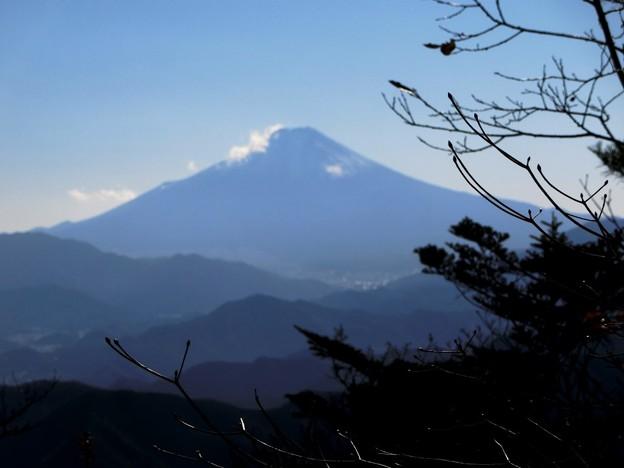 66 山頂からの富士山