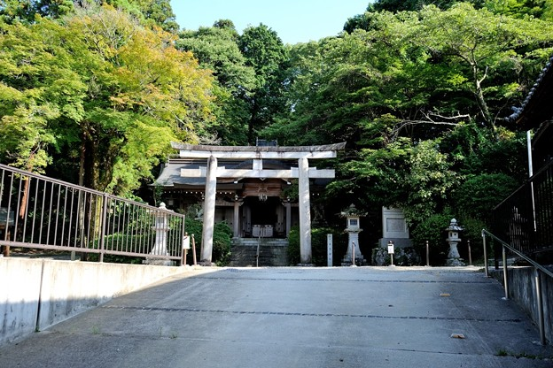 千早赤阪村 建水分神社 摂社南木神社 8/10 16:00