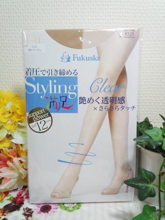 aene Fukusuke Styling満足 交編(Clear) 着圧パンティストッキング (5)