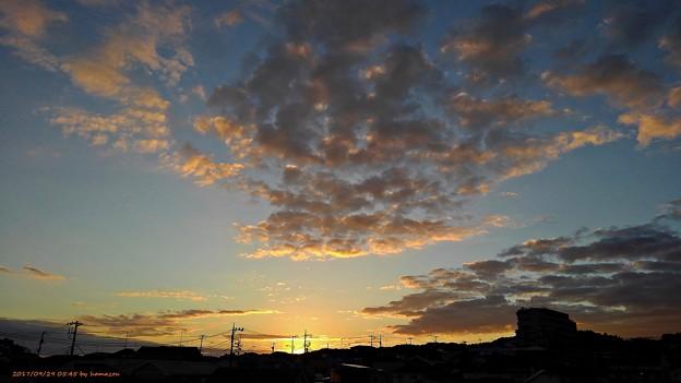 写真: 朝焼け(170929)