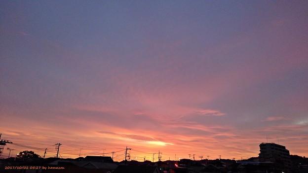 写真: 朝焼け(171002)