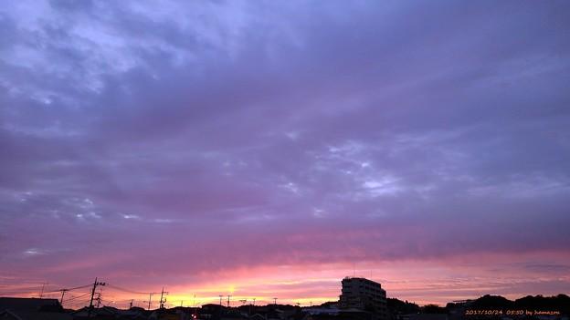 写真: 朝焼け(171024)