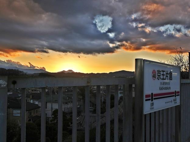富士が見える駅