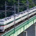 写真: 189系M52編成 臨時特急かいじ183号@新桂川橋梁