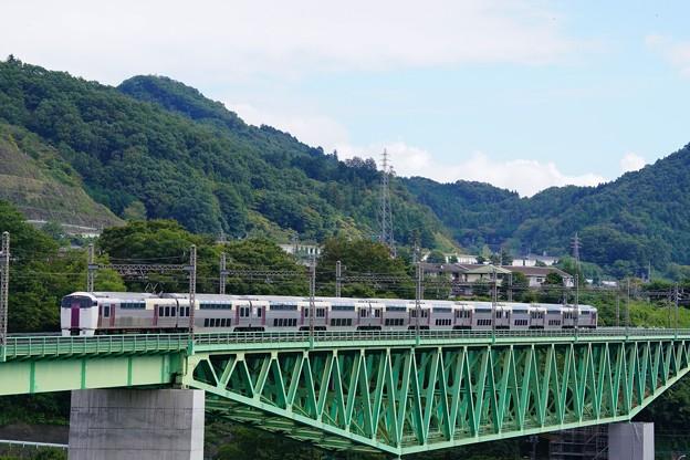 写真: 215系ホリデー快速ビューやまなし@新桂川橋梁
