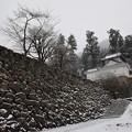 大雪の出石・・・本丸西隅櫓を目指して