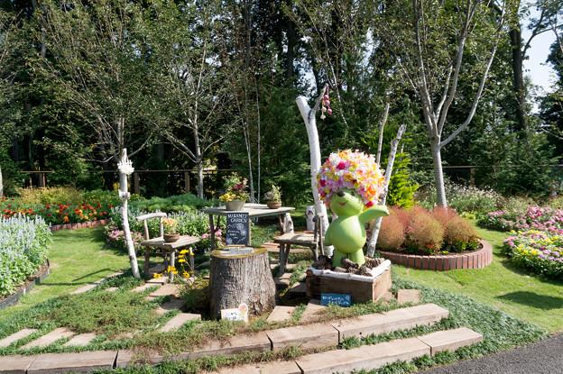 里山ガーデンのマスコット「ガーデンベア」