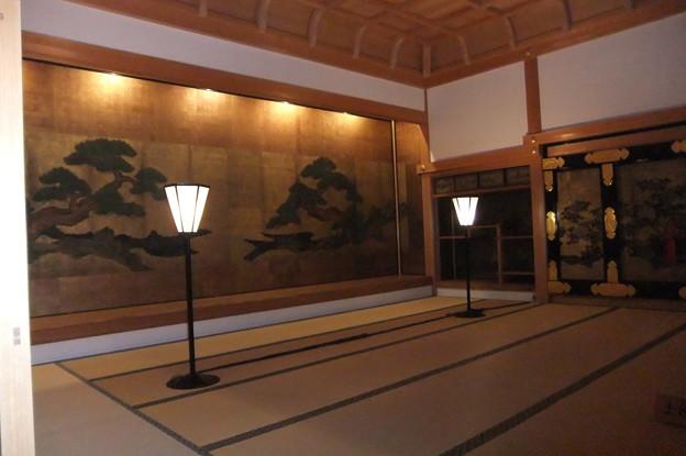 篠山城址跡大書院 格式の高い部屋狩野の絵師が描いた