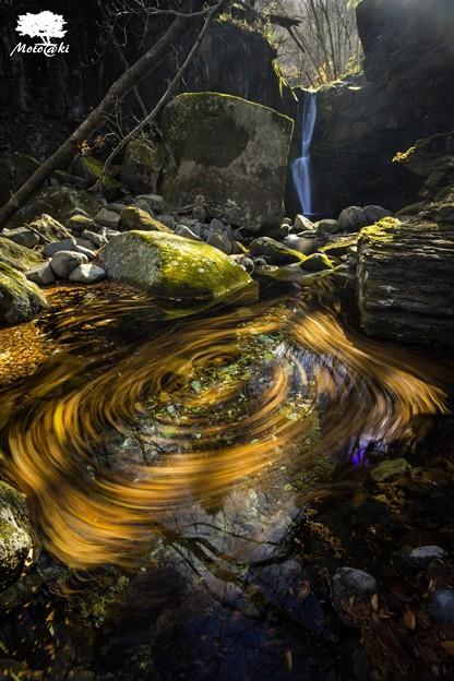 写真: 黄色い泉