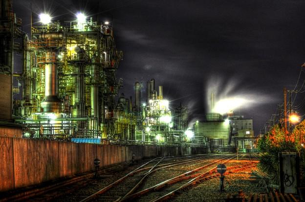 千鳥線と工場