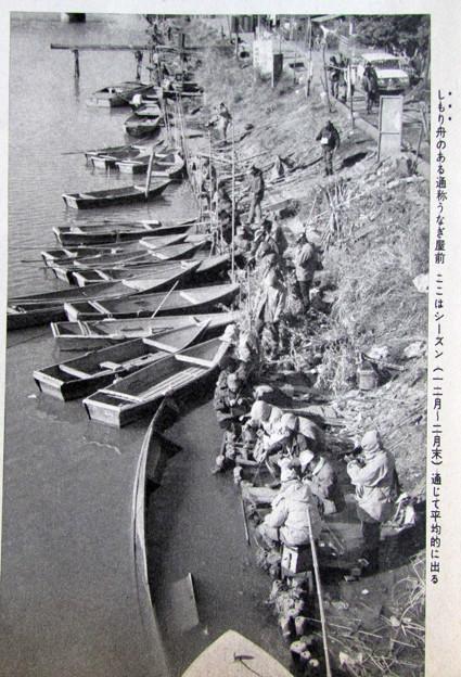 桜川でのタナゴ釣り うなぎ屋前