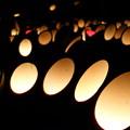 写真: 竹灯籠