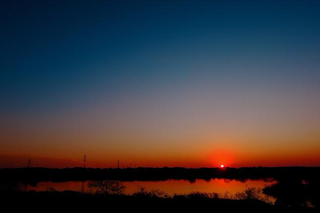 写真: 昼と夜の間