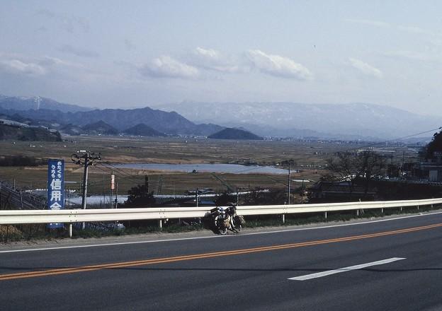 米沢盆地を望む