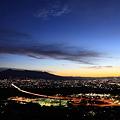 夜明けの富士市街 1月2日