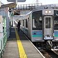 大糸線 飯森駅 普通列車信濃大町行 5334M