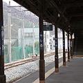 長野電鉄 屋代線 屋代駅ホームにて
