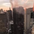 写真: トランプタワー火事だと…1