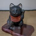 写真: 黒い招き猫