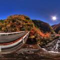 梅ヶ島温泉 紅葉 360度パノラマ写真(3) HDR