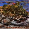 梅ヶ島温泉 紅葉 360度パノラマ写真(5) 湯の島砂防ダム上流部 HDR