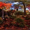 駿府城公園 紅葉山庭園の紅葉 360度パノラマ写真(7)