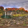 Photos: 白糸の滝  紅葉 360度パノラマ写真