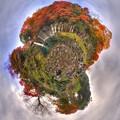 Photos: 白糸の滝  紅葉 LIttle Planet
